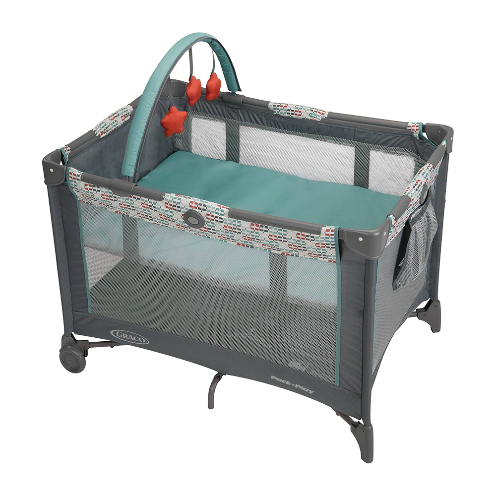 Pack-N-Play with Bassinet & Toy Bar: Church On Wheels
