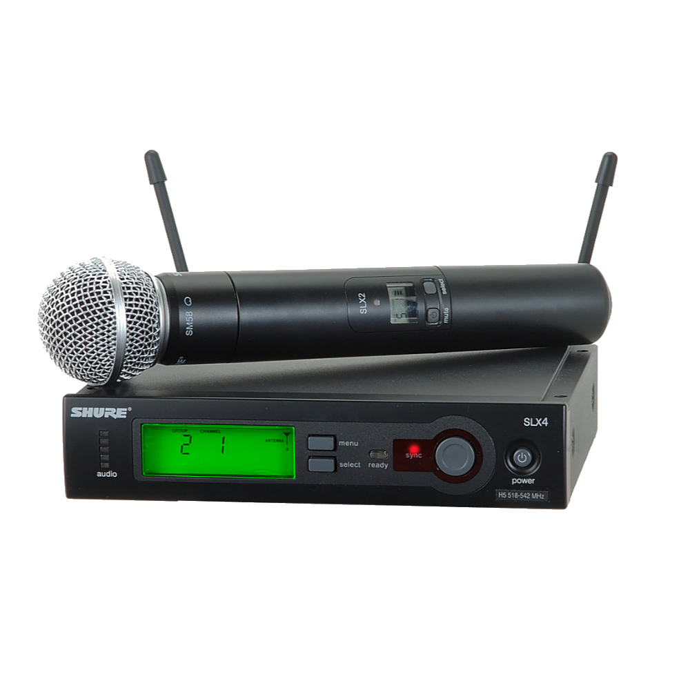 shure slx wireless system w sm58 microphone church on wheels. Black Bedroom Furniture Sets. Home Design Ideas